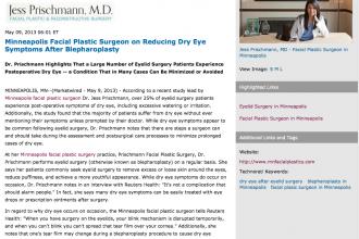 Minneapolis facial plastic surgeon, Minneapolis facial plastic surgery, eyelid surgery, Dr. Jess Prischmann