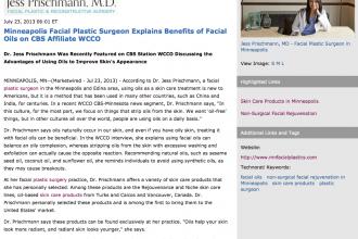 plastic surgeon, plastic surgery, skin care products, non-surgical facial rejuvenation, Dr. Jess Prischmann