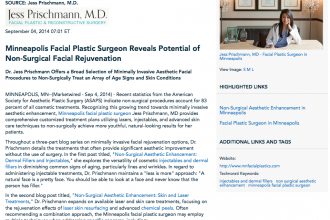 Minneapolis facial plastic surgeon, Non-Surgical Aesthetic Enhancement, Dermal Fillers and Injectables